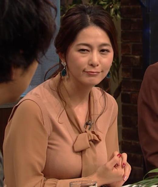 杉浦友紀アナ 遠目に見ると裸に見えるエロい色の服キャプ画像(エロ・アイコラ画像)
