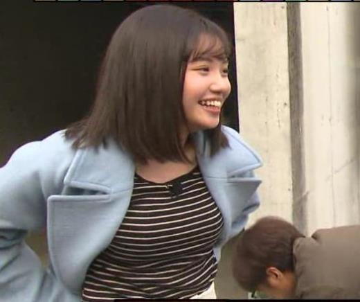 田中瞳アナ ボーダーの服でエロい胸元キャプ画像(エロ・アイコラ画像)