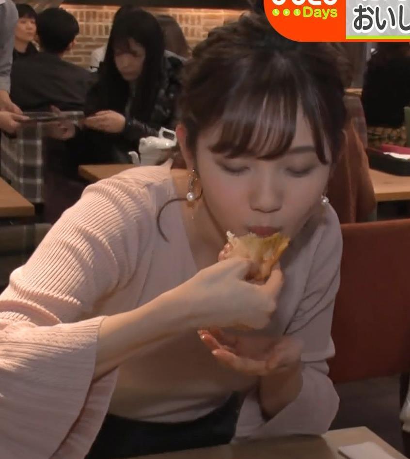 田中瞳アナ ニットおっぱいがエロ過ぎキャプ・エロ画像