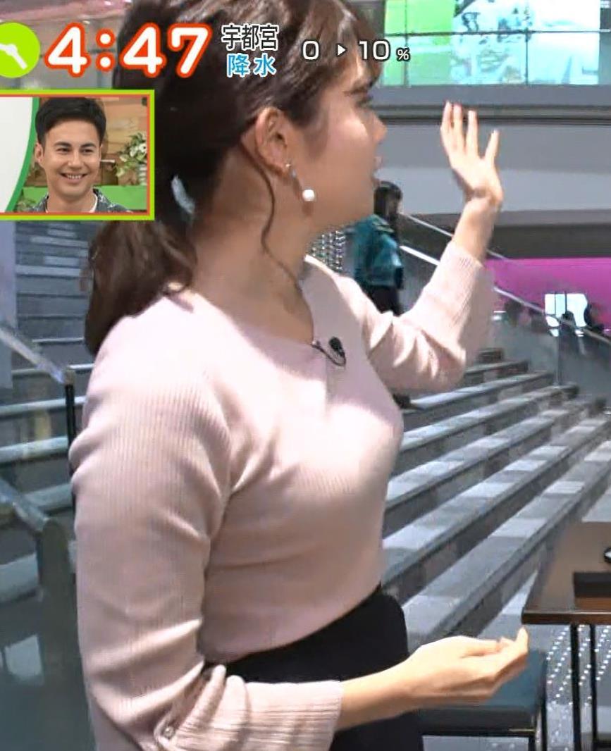 田中瞳アナ ニットおっぱいがエロ過ぎキャプ・エロ画像4