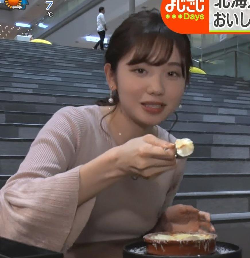 田中瞳アナ ニットおっぱいがエロ過ぎキャプ・エロ画像5