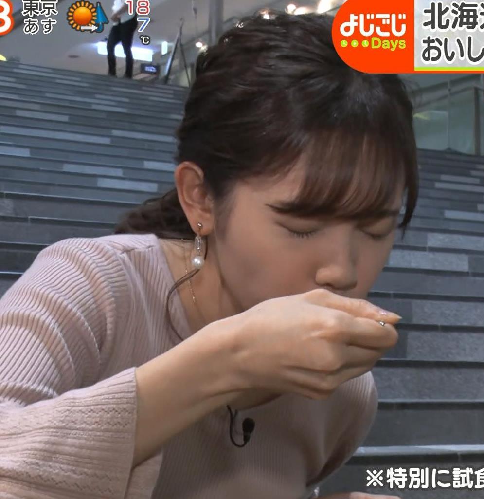 田中瞳アナ ニットおっぱいがエロ過ぎキャプ・エロ画像6