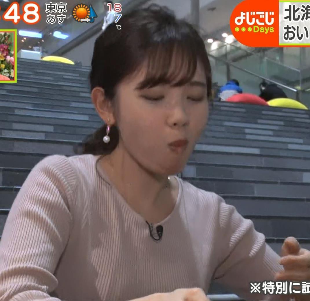 田中瞳アナ ニットおっぱいがエロ過ぎキャプ・エロ画像7