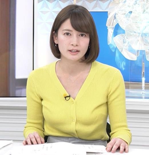 宇内梨沙アナ エロニットキャプ・エロ画像2