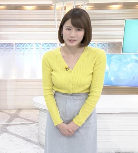 宇内梨沙アナ エロニットキャプ・エロ画像6
