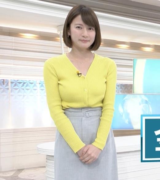 宇内梨沙アナ エロニットキャプ・エロ画像7