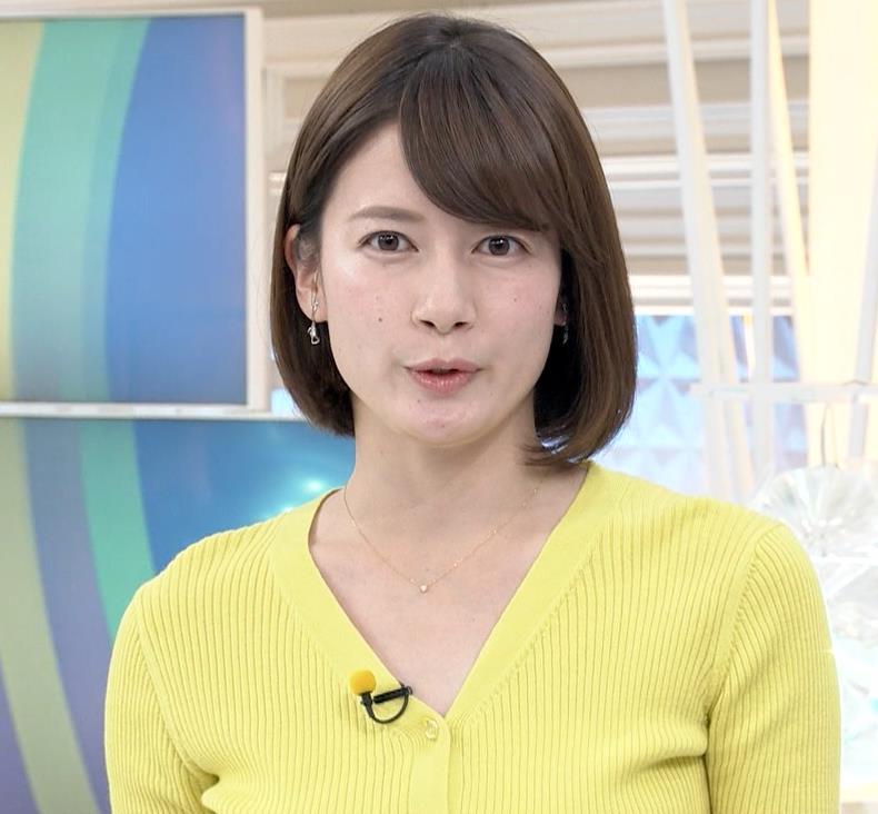 宇内梨沙アナ エロニットキャプ・エロ画像8