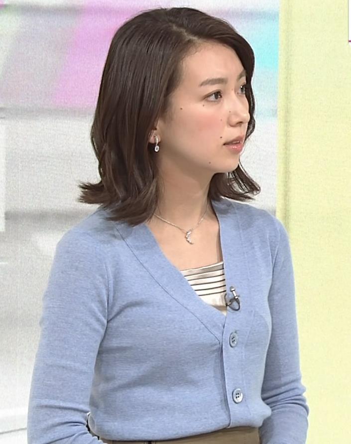 和久田麻由子アナ ニット微乳キャプ・エロ画像