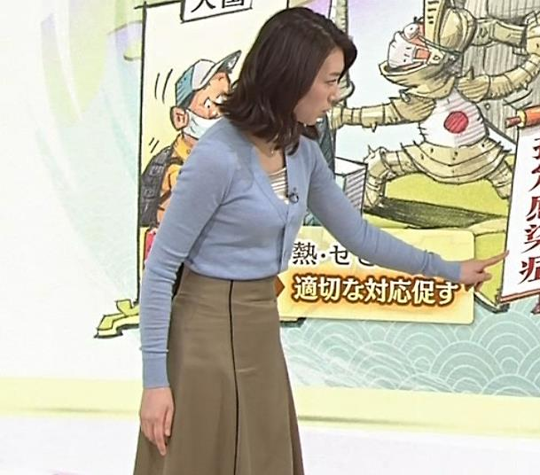 和久田麻由子アナ ニット微乳キャプ・エロ画像2