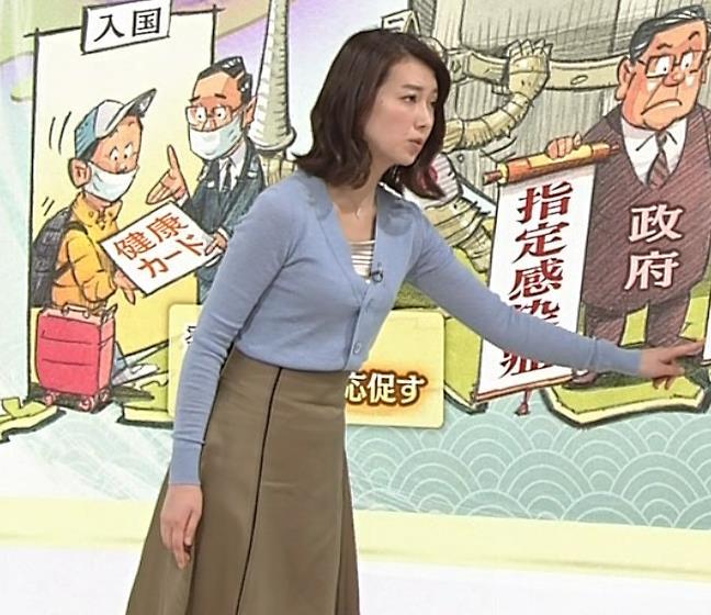 和久田麻由子アナ ニット微乳キャプ・エロ画像3