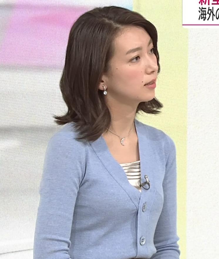 和久田麻由子アナ ニット微乳キャプ・エロ画像5