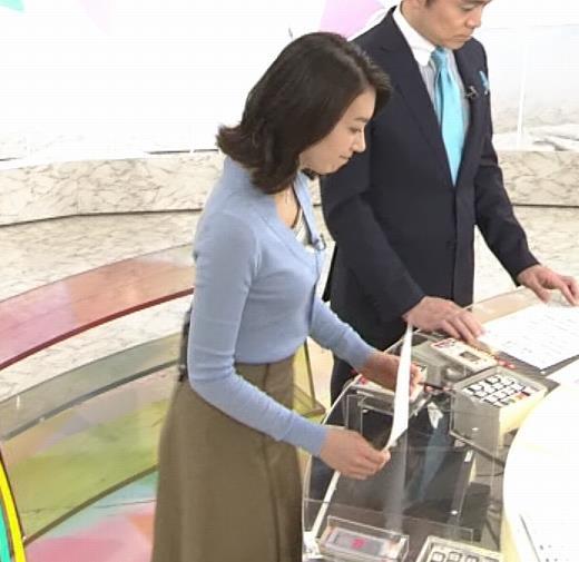 和久田麻由子アナ ニット微乳キャプ・エロ画像6