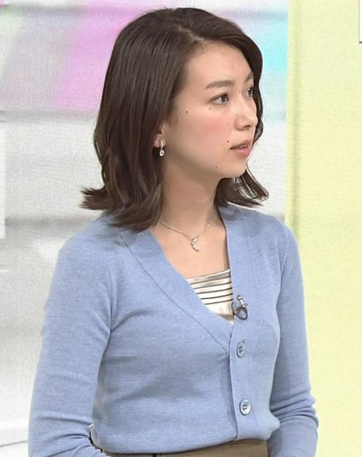 和久田麻由子アナ ニット微乳キャプ画像(エロ・アイコラ画像)