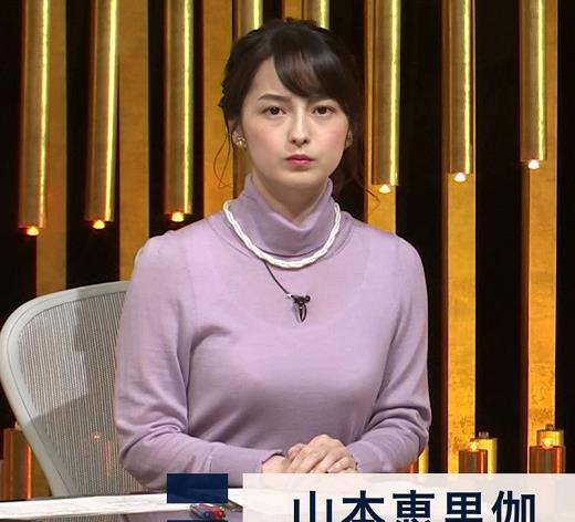 アナ インナー透けニットおっぱいキャプ・エロ画像