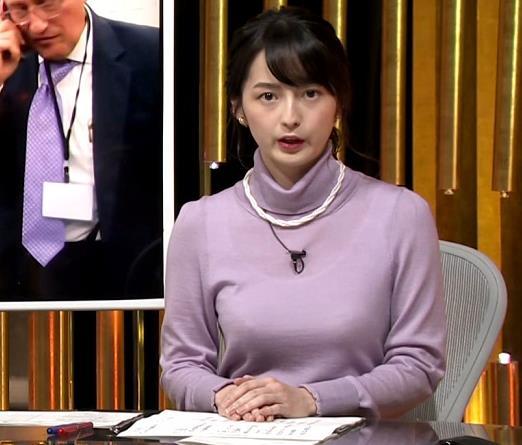 アナ インナー透けニットおっぱいキャプ・エロ画像2
