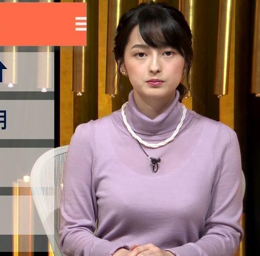 アナ インナー透けニットおっぱいキャプ・エロ画像3