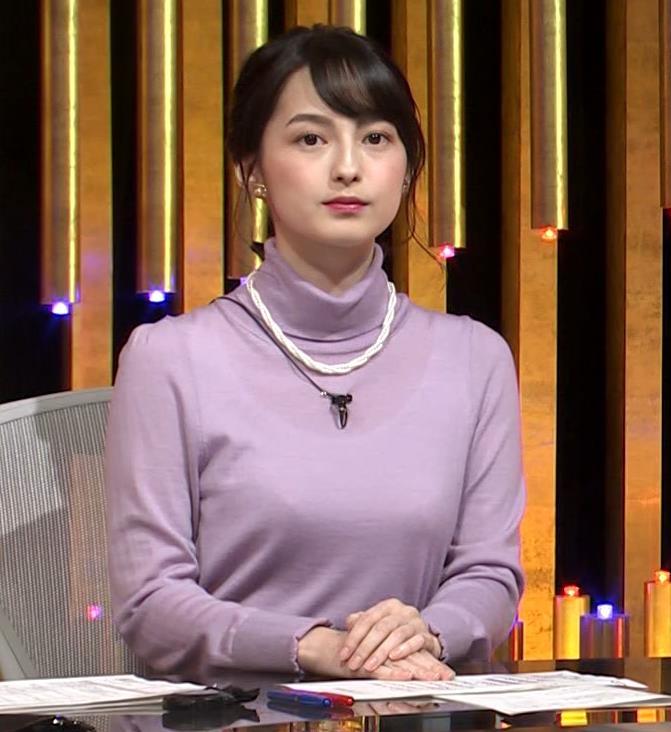 アナ インナー透けニットおっぱいキャプ・エロ画像4