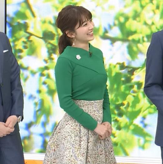 山本里菜アナ エロい横乳キャプ・エロ画像