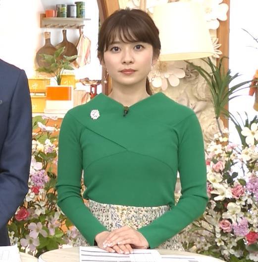 山本里菜アナ エロい横乳キャプ・エロ画像6