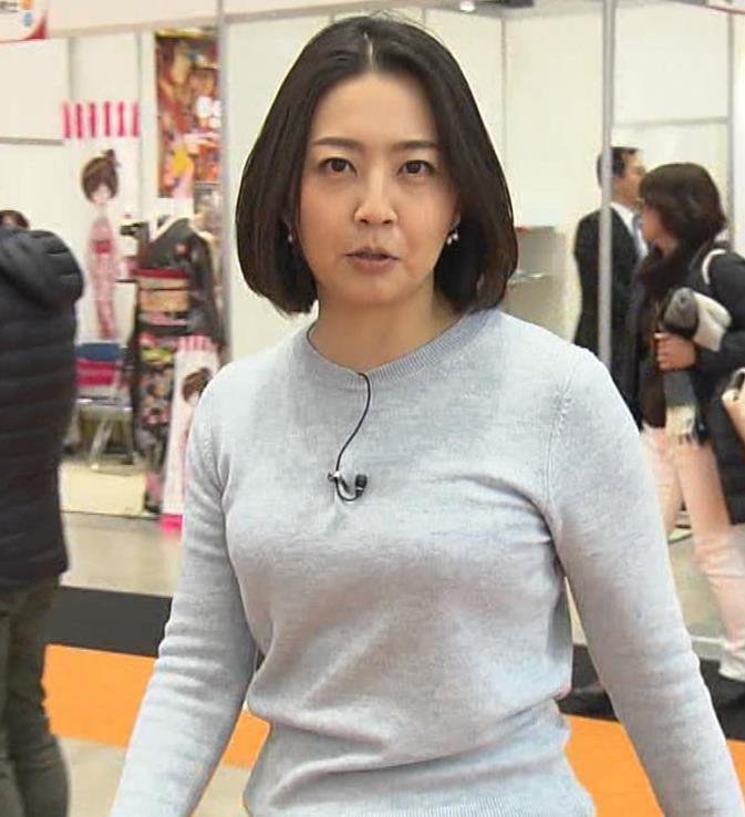 矢島悠子アナ エッチな胸元キャプ・エロ画像