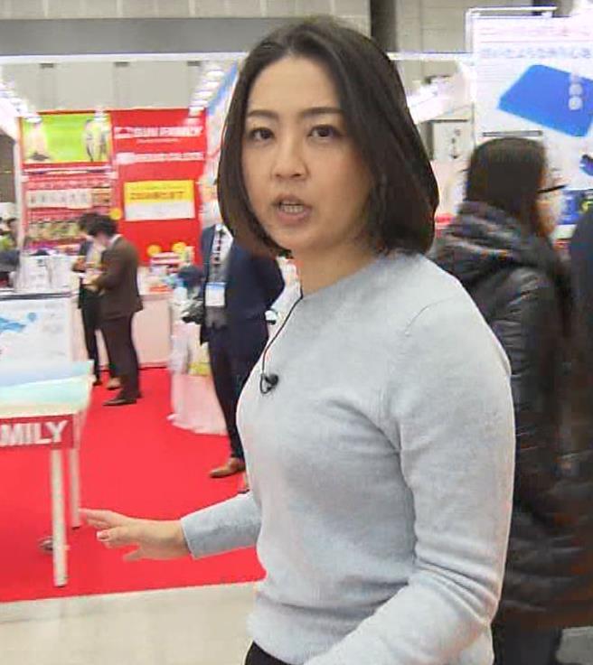 矢島悠子アナ エッチな胸元キャプ・エロ画像2