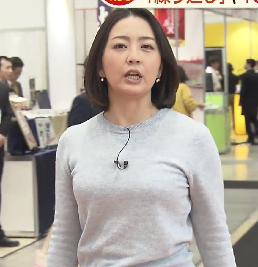 矢島悠子アナ エッチな胸元キャプ・エロ画像4