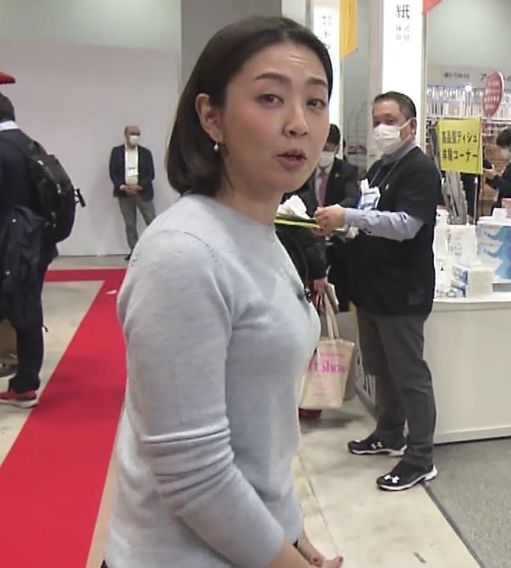 矢島悠子アナ エッチな胸元キャプ・エロ画像6