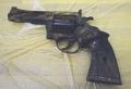 荒川で発見された回転式拳銃