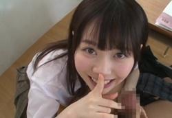 【痴女】小悪魔JKお姉ちゃんが教室でこっそりイジワル手コキ精液搾り!水卜さくら1